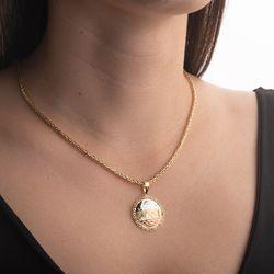 Pingente-de-Ouro-18k-Medalha-Escrava-Tricolor-Trabalhada-pi20507-joiasgold