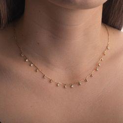 Gargantilha-de-Ouro-18k-Zirconias-Penduradas-Cartier-45cm-ga05345-joiasgold