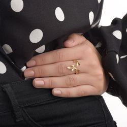 Anel-de-Ouro-18k-Folhas-com-Diamantes-Aro-Aberto-an34558-joiasgold