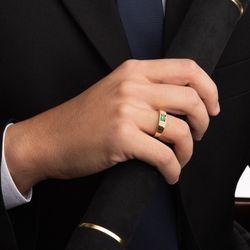 Anel-de-Formatura-de-Ouro-18k-Zirconia-Verde-com-Diamantes-an33805-joiasgold