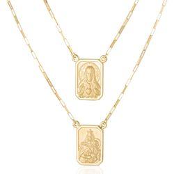 Gargantilha-de-Ouro-18k-Escapulario-Placa-Foscas-Cartier-60cm-ga05446--joiasgold