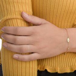 Pulseira-de-Ouro-18k-Menina-com-Cristais-Pendurados-17cm-pu05250-joiasgold