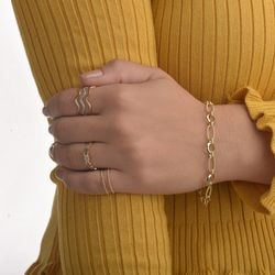 Pulseira-de-Ouro-18k-Elos-Ovais-Circulos-Trabalhados-de-19cm-pu04634-joiasgold