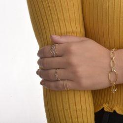 Pulseira-de-Ouro-18k-Elos-ovais-Lisos-e-Trabalhados-19cm-pu02918-joiasgold