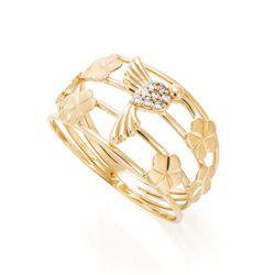 Anel-de-Ouro-18k-Fios-Beija-Flor-com-Zirconias-e-Flores-an37136-joiasgold