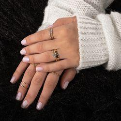 Anel-de-Ouro-18k-Aro-Duplo-Coracoes-e-Bolinhas-com-Diamantes-an36920-joiasgold