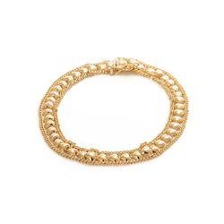 Pulseira-de-Ouro-18k-Coracao-Liso-Groumet-18cm-pu05551-joiasgold