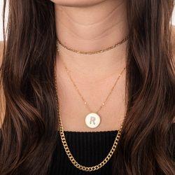 Pingente-de-Ouro-18k-Medalha-Letra-R-com-15-Diamantes-pi19927-joiasgold
