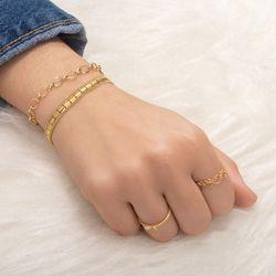 Pulseira-de-Ouro-18k-Quadriculada-Groumet-18cm-pu05549-joiasgold