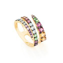 Anel-de-Ouro-18k-Espiral-com-Espinelios-Coloridos-an36559-joiasgold