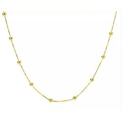 Gargantilha-de-Ouro-18k-Veneziana-com-Bolinhas-45cm-ga05571-joiasgold
