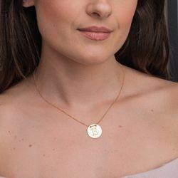 Gargantilha-em-Ouro-18k-Medalha-Letra-E-Rodinada-com-40cm-ga05083-joiasgold
