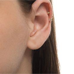 Piercing-de-Ouro-18k-Orelha-com-Estrela-e-Zirconia-ac07056-Joias-gold-modelo-
