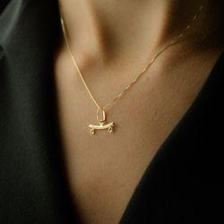 Canga-de-Ouro-18k-para-Dois-Pingentes-Pequenos-pi16295-Joias-gold-modelo