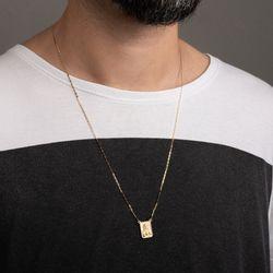 Gargantilha-de-Ouro-18k-Escapulario-Placa-Fosca-Piastrine-60cm-ga05407-Joias-gold