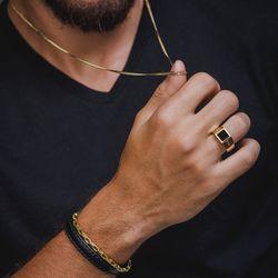 Anel-de-Ouro-18k-Masculino-Onix-Quadrado-com-Diamantes-an33587-Joias-gold