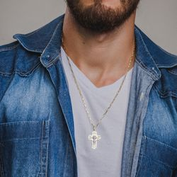 Pingente-de-Ouro-18k-Crucifixo-com-Jesus-Cristo-Vazado-pi17141-Joias-gold1