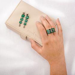 Brinco-de-Ouro-Negro-18k-Topazio-Verde-Carre-56-Diamantes-br23125-Joias-gold1