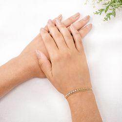 Pulseira-de-Ouro-18k-Coracao-Tricolor-Groumet-18cm-pu05552-Joias-gold