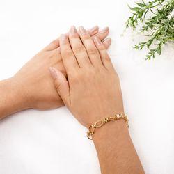 Pulseira-de-Ouro-18k-Circulos-Ovais-com-Zirconia-de-19cm-pu04151-Joias-gold