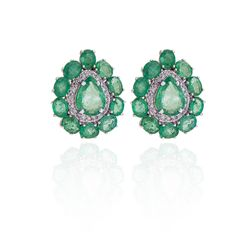 Brinco-de-Ouro-Branco-18k-Esmeralda-Gota-com-Diamantes-br21710-joiasgold