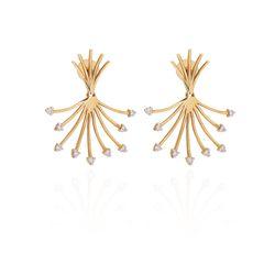 Brinco-de-Ouro-18k-Fios-com-Diamantes-na-Ponta-br23331-joiasgold