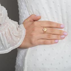 Anel-de-Ouro-18k-Chapa-Oval-e-Esmeralda-Formatura-Medicina-an37688-joiasgold