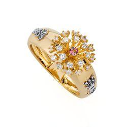 Anel-de-Formatura-de-Ouro-18k-Ciencias-Contabeis-com-Turmalina-Rosa-an-joiasgold