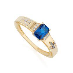 Anel-de-Ouro-18k-Formatura-Pedagogia-com-Zirconia-Azul-an37836-joiasgold