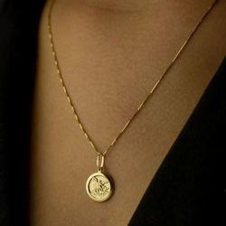 Pingente-de-Ouro-18k-Medalha-Sao-Miguel-Arcanjo-Redondo-pi16441-joiasgold.
