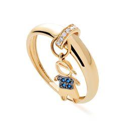 Anel-de-Ouro-18k-Filho-Menino-Pendurado-Zirconia-Azul-an33523-joiasgold