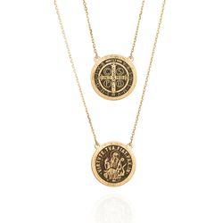 Gargantilha-de-Ouro-18k-Escapulario-Sao-Bento-60cm-ga05581-joiasgold