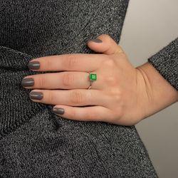 Anel-de-Ouro-Branco-18k-Cartier-Jade-com-Diamantes-an36884-JOIASGOLD