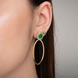 Brinco-ouro-18k-jade-verde-diamantes-br23304-joiasgold