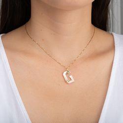 Pingente-de-Ouro-18k-Letra-G-Madreperola-com-Peridoto-pi21584-Joiasgold